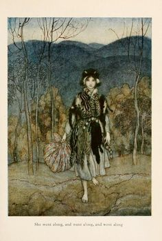 Flora Annie Steel. English Fairy Tales. London, 1927. Illustrations by Arthur Rackham.  'Catskin'.