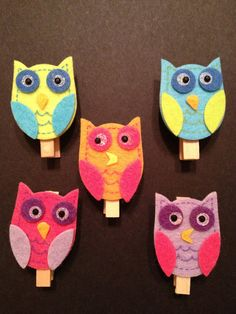 Custom Colorful Owl Baby Shower Game Clothespins by weebittrendy, $18.35