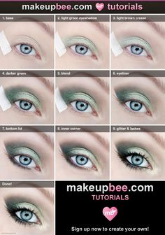 Step-By-Step #Makeup #Tutorial for Gorgeous Green Look