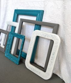 Need these, love photos and love these colors! And need a collage type set up for our wall that the living room shares with the stairs (awkward shape)! $48 but would need to actually mount the pics in and get glass...