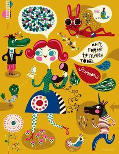 helendardik, graphic, arti farti, artsi, inspir, today awesom, gicle print, illustr, bedroom