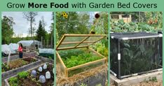 Use garden bed covers to protect your vegetable garden