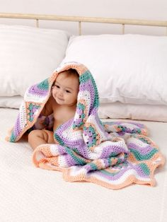 Baby Granny Stripes Blanket | Yarn | Free Knitting Patterns | Crochet Patterns | Yarnspirations