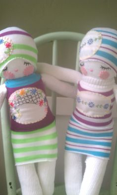 Sock dolls.. i love these for my daughters