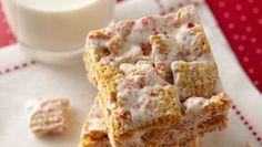 {3-Ingredient} Peppermint #MuddyBuddies Marshmallow Bites #chex