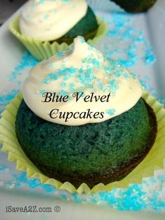These are the BEST Blue Velvet Cupcakes I've ever tried!!!!  Dawn Ultra Blue Cupcakes Recipe!!!   + a Giveaway! - iSaveA2Z.com