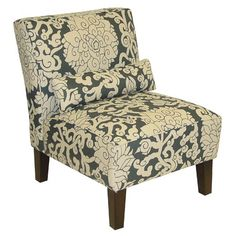Skyline Furniture Armless Chair in Athens Smoke
