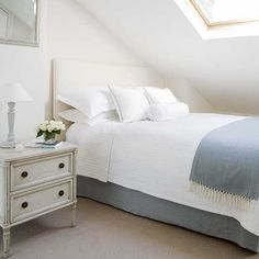 Small attic bedroom | White bedrooms | House to Home UK