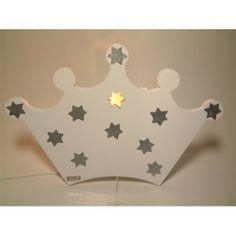 Baby/kinderkamer wandlamp.Deze unieke houten lamp als kroon met ...