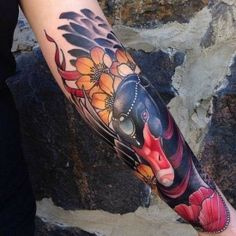 Stunning black swam ink!  #tattoo #tattoos #halfsleeve #forearm #bird #inked