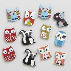 One of my favorite discoveries at WorldMarket.com: Fall Owl Felt Kraft Stickers