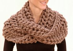 Open work infinity scarf - there are many ways to wear this. Check it out! This designer is amazing!