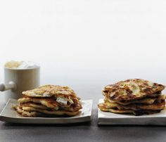 Happy National Pancake Day! Your breakfast for dinner: These savory Ricotta Buckwheat Pancakes #SelfMagazine