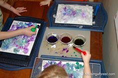 Your kids will love this simple Melting Art Activity ~Housing A Forest