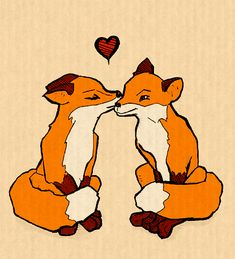 valentines foxes