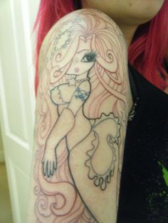 Princess Mermaid Tattoo