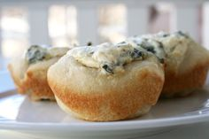 For the Love of Food: Mini Baked Spinach Dip Bread Bowls