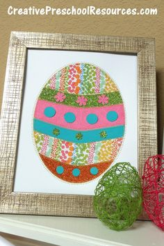 stitched paper Easter egg tutorial