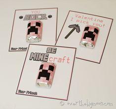 holiday, minecraft valentin, minecraft creeper, easi printabl, valentine ideas