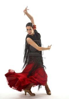 baile-sevillanas-pico-gitana-con-clavel-y-sevillanas