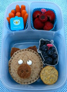 Lunch for kids using Pampered Chef product.