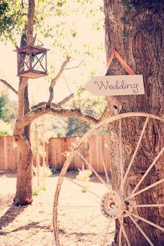 barn wedding greeting