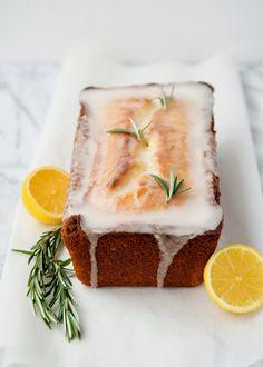 lemon rosemary yogurt cake - Pepper & Buttons