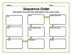 FREE - Graphic Organizer: Sequence Order of Events
