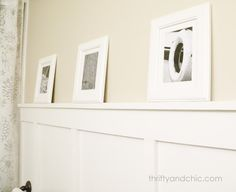 DIY Board and Batten -only cost $11 to do whole bathroom with this trick! Amazing