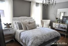 Love the colors in this guest bedroom