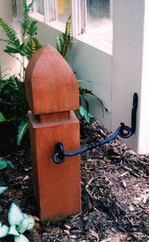 Cool way to keep a garden gate open