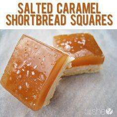 Salted Caramel shortbread Squares.