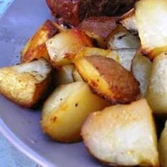 Red roasted potatoes - this recipe comes out perfect every time.