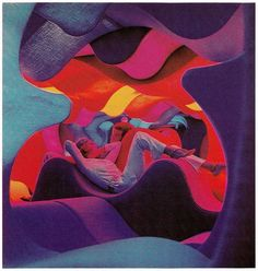Verner Panton: Room Installation for the Visiona II exhibition by Bayer AG, Cologne, 1970.