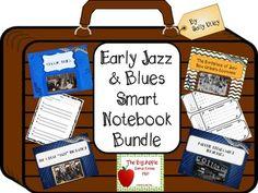 Early Jazz  Blues Smart Notebook Bundle