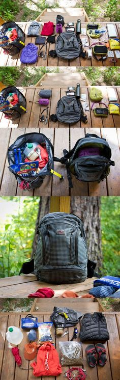 One woman's summer hiking packing list~~I would love to do lots of hiking this summer