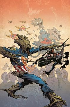 Rocket Raccoon and Groot Variant Covers Will Take Over Twenty Marvel Titles This Fall | Page 2 | The Mary Sue