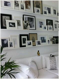 Alternative to hanging pictures...must do this with old family pictures