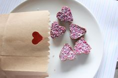 sprinkle-topped heart chocolates for valentine's day
