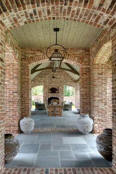 hous design, fireplac, outdoor rooms, brick, arches, patio, back porches, french design, design studios