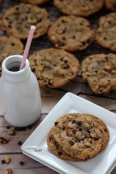 Chocolate Chip Cookies - crisp on the edges and soft in the center. The perfect cookie. from #dietersdownfall.com