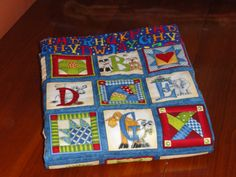 Alphabet ZOO Baby Quilt or Wall Hanging in by grannysbabyquilts, $76.00 alphabet zoo, wall hangings, alphabet quilt, babi quilt, baby quilts, colors, children, 7600, zoo babi