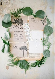 Botanical inspired invite suite. Three Eggs Design. | photo by  Aubrey Renee Photography