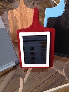 iPad Kindle Tablet Stand kitchen cutting board cookbook Holder on Etsy, $20.00