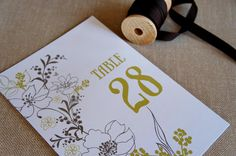 Bloomin Garden Table Number by 2bsquared on Etsy