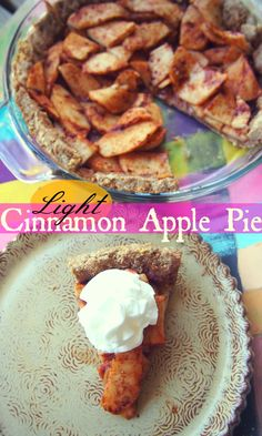 Healthy & Light Cinnamon Apple Pie