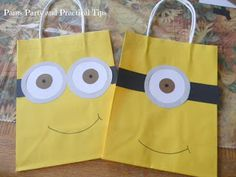 How to make your own Despicable Me Party Bags craft, party bags, parti bag, minion parti, minion party, kids party gift bags, parti idea