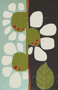 quilt, les brume, flower prints, daisi, footprint