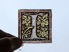 Stained Glass Window Fragment, Alphabet, I, hand painted, new fragment : 1N10. $10.00, via Etsy.