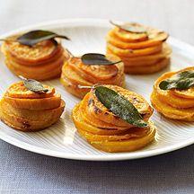 weight watchers, crispi sage, food, potatoes, potato stack, sage leav, recip, leaves, sweet potato